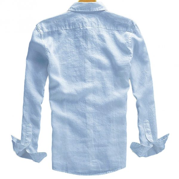 Macondoo Mens Basic Roll Up Sleeve Plus Size Button-Down Slim Fit Shirts